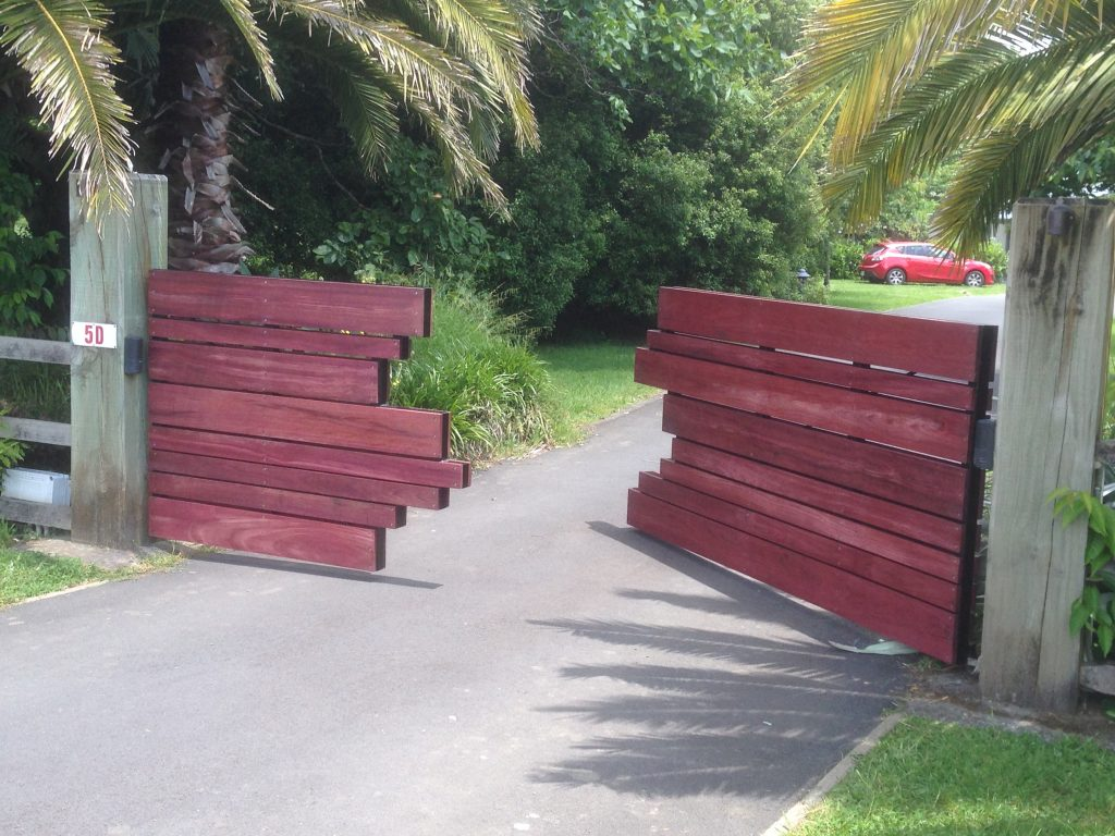Red Steel Residential Gates by Supreme