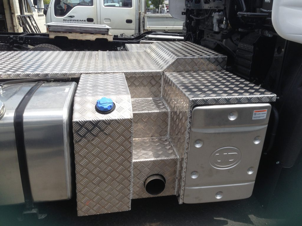 Chequer plate rear truck cover